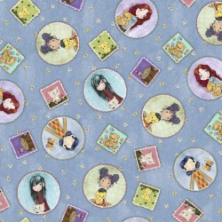 Tossed Girl Patches - BLUE