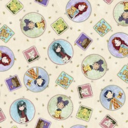 Tossed Girl Patches - CREAM