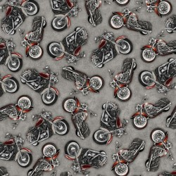 Tossed Motorcycles - GREY