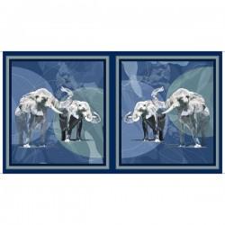 Panel - Elephant Picture Patches 60cm - BLUE