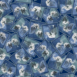 Elephant Patches - DK BLUE