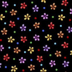 Flower Toss - BLACK