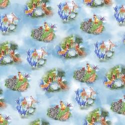 Rooster Vignettes - BLUE