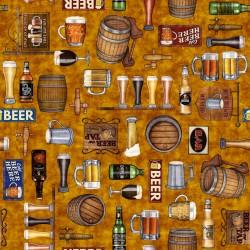 Beer Motifs - GOLD