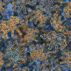 Elephant Toss 130/70 Weave - BLUE