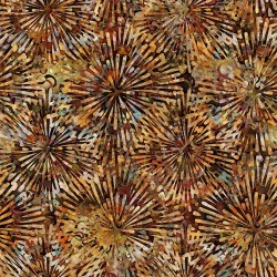 Floral Burst 130/70 Weave - BROWN