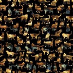 Cat Silhouettes - BLACK