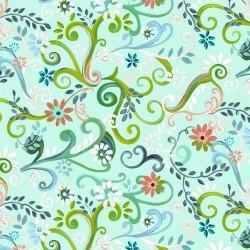 Garden Swirl - AQUA