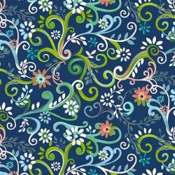 Garden Swirl - NAVY