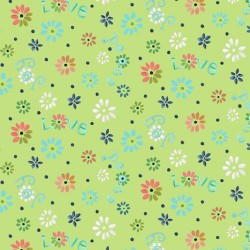 Ditsy Flowers - GREEN