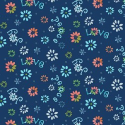 Ditsy Flowers - NAVY