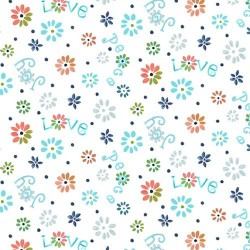 Ditsy Flowers - WHITE