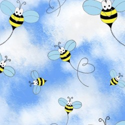 Bees & Clouds - BLUE