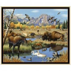 Panel - Mixed Wildlife 90cm - MULTI