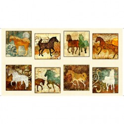 Horses Picture Patches - CREAM