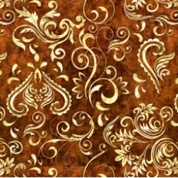 Inlay Scroll - DARK SIENNA