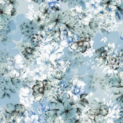 LGE FLORAL TOILE - CHAMBRAY