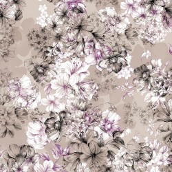 LGE FLORAL TOILE - GREY