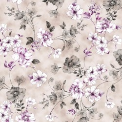 SPACED FLORAL VINE - GREY