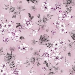 SPACED FLORAL VINE - LAVENDER