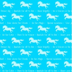 TONAL UNICORN STRIPE - BLUE