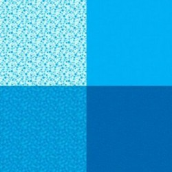 FAT QUARTER PANEL (90CM) - BLUE