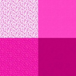 FAT QUARTER PANEL (90CM) - FUCHSIA