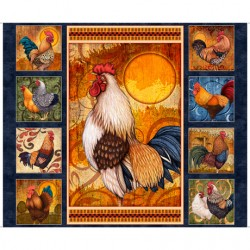ROOSTER PANEL - NAVY 90CM