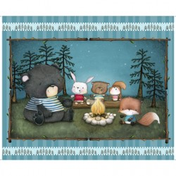 CAMPFIRE FRIENDS PANEL -90CM