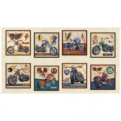 MOTORCYCLE PATCH CREAM 60CM PANEL