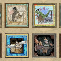 Steampunk Picture Patches Panel (60cm)