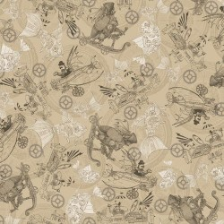 Steampunk Toile - TAN