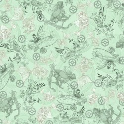 Steampunk Toile - MINT