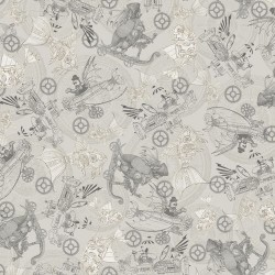 Steampunk Toile - GRAY