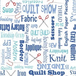 Quilters Lingo - BLUE