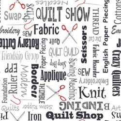 Quilters Lingo - CHARCOAL
