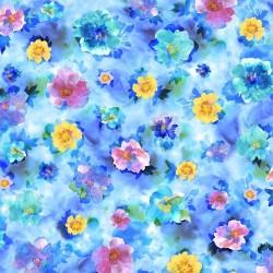 Watercolor Floral - BLUE