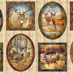 Deer Vignette Patches Panel (60cm)