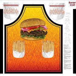 Burger Apron Panel 90cm) - ORANGE