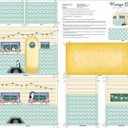 Camper Sewing Machine Cover Panel (90cm)