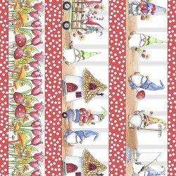 Gnome Character Stripe - RED