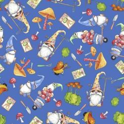 Gnomes & Veggies Toss - DARK BLUE