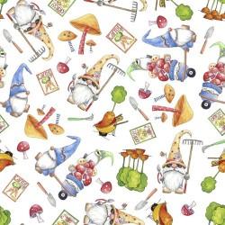 Gnomes & Veggies Toss - WHITE