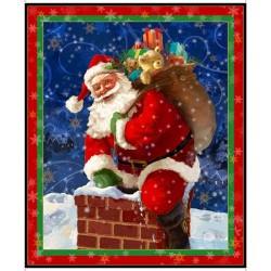 Santa in chimney Panel (90cm)