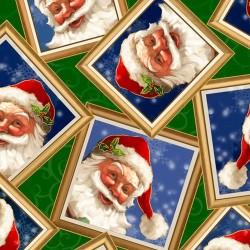 Santa in Frames - GREEN