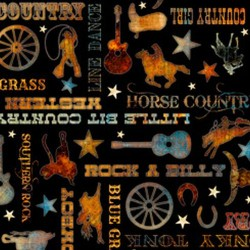 Country Phrases - BLACK
