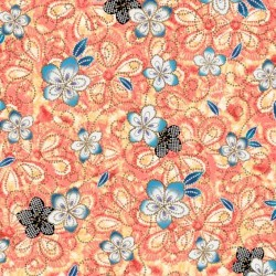 Tossed Floral - CORAL