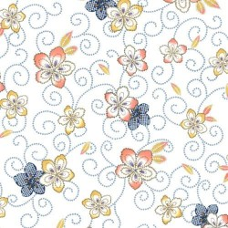 Tossed Floral - WHITE
