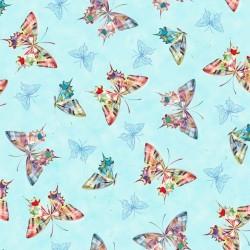 Tossed Butterflies - AQUA