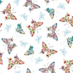 Tossed Butterflies - WHITE